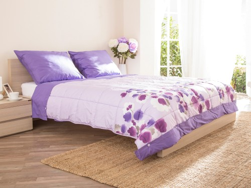 Sweet Dreams Violet 200x200cm pokrivač sa posteljinom Dormeo