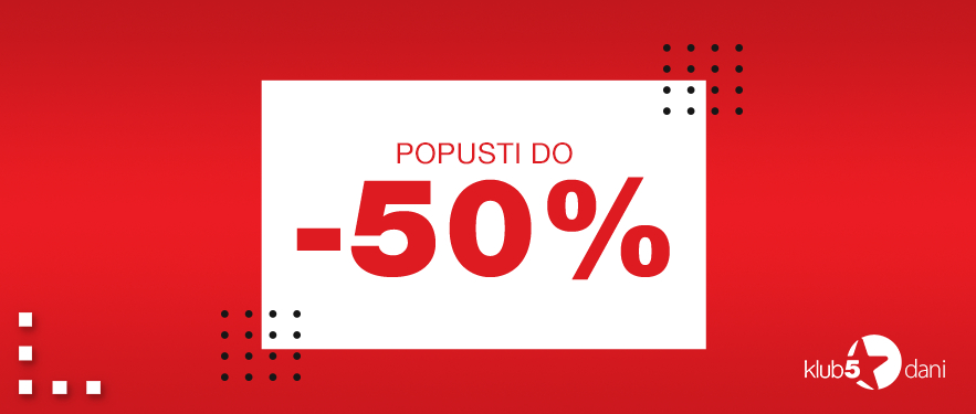 DANI KLUBA uz POPUSTE čak do 50%