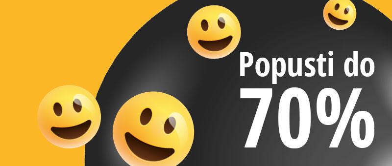 Srećni dani uz popuste do 70%